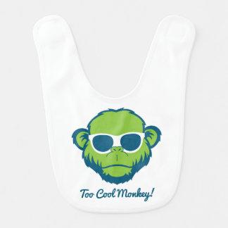Mono demasiado fresco babero para bebé