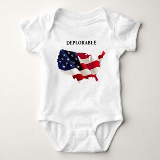 Mono deplorable patriótico del jersey del bebé
