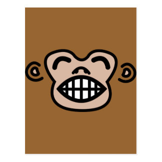 mono divertido postal