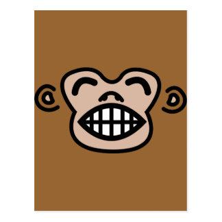 mono divertido tarjeta postal