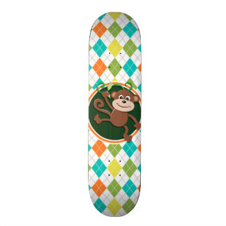 Mono en el modelo colorido de Argyle Patinetas Personalizadas