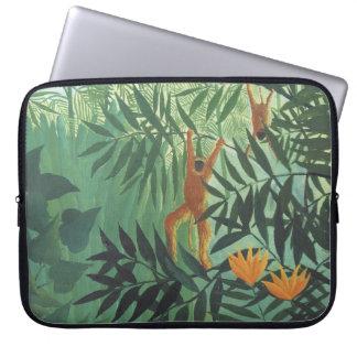 "Mono en selva de Henri Rousseau 15"" ordenador port Manga Computadora"