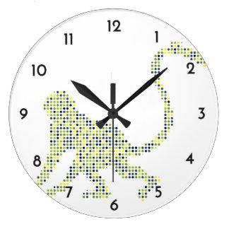 Mono enrrollado elegante reloj redondo grande