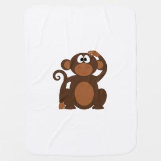 Mono exhausto del dibujo animado de Brown que Mantas De Bebé
