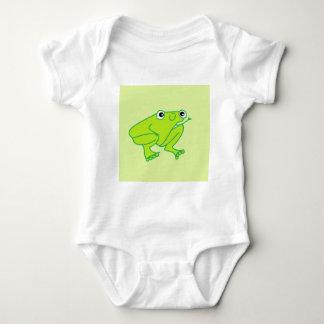 Mono feliz del jersey del bebé de la rana