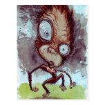 Mono feo salvaje tarjetas postales
