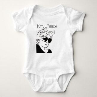 Mono fresco para la paz del gatito de las niñas body para bebé