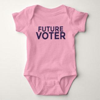 Mono futuro del bebé del votante body para bebé