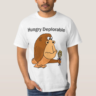 Mono gigante deplorable hambriento divertido con camiseta