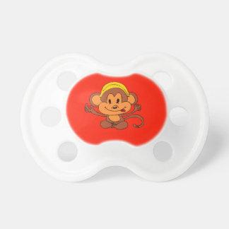 Mono juguetón lindo de encargo con el plátano chupetes para bebés