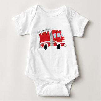 Mono lindo del bebé del Firetruck Body Para Bebé