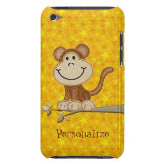Mono lindo en la caja personalizada rama del tacto iPod Case-Mate fundas