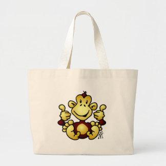 Mono maníaco bolsas lienzo