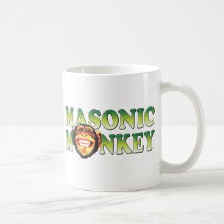 Mono masónico tazas de café
