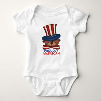 """"""" Mono orgulloso americano del bebé Body Para Bebé"""