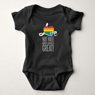 Mono oscuro del bebé del odio del amor no (arco body para bebé