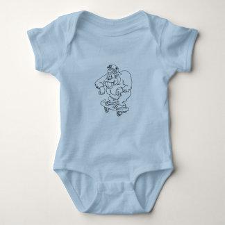 mono patinador body para bebé