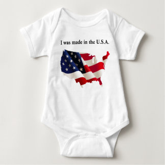 Mono patriótico del jersey del bebé