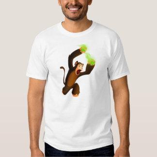 Mono que lanza el veneno con una honda Poo Camisetas