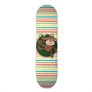 Mono Rayas brillantes del arco iris Tabla De Skate