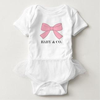 Mono rosado del tutú del bebé del BEBÉ y del CO Body Para Bebé