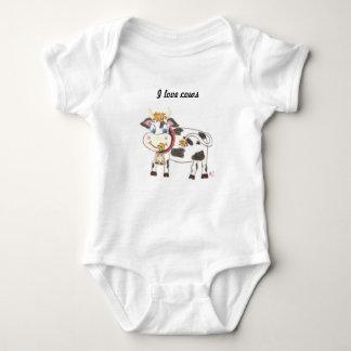 Mono suizo del jersey del bebé de la vaca