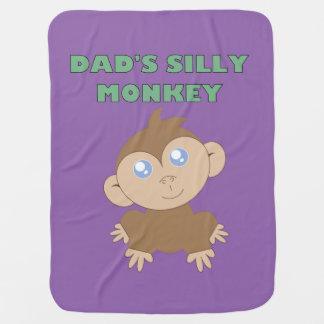 Mono tonto - manta del bebé manta de bebé