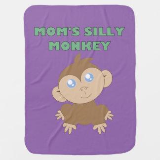 Mono tonto - manta del bebé mantas de bebé