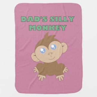 Mono tonto - manta del bebé mantita para bebé