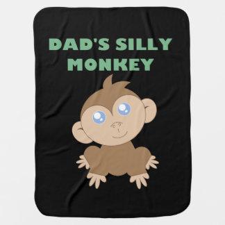 Mono tonto - manta del bebé mantitas para bebé