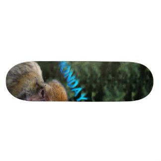 Mono triste sobre lunes monopatín 20 cm