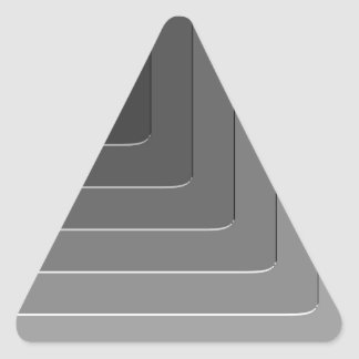 Monocromo gris del negocio pegatina triangular