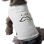 Monóculo y bigote camiseta sin mangas para perro