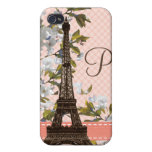 Monogram Eiffel Tower  iPhone 4 Cover