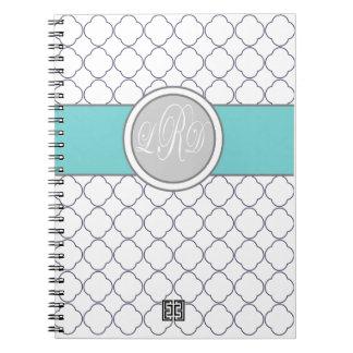 Monogram quatrefoil note book