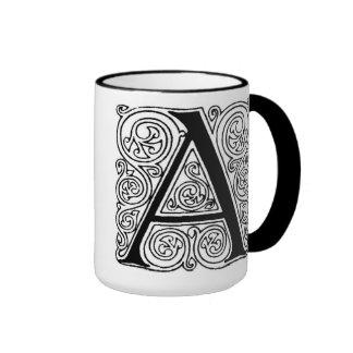 """Monograma """"A"""" con los remolinos - taza"""