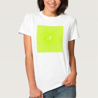 Monograma amarillo y blanco fluorescente de los camisas