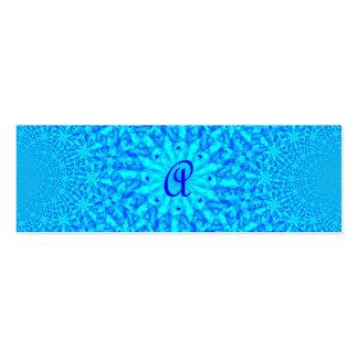 Monograma azul helado A del fractal Plantilla De Tarjeta Personal