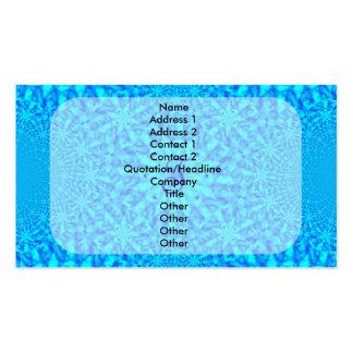Monograma azul helado T del fractal Tarjetas De Visita