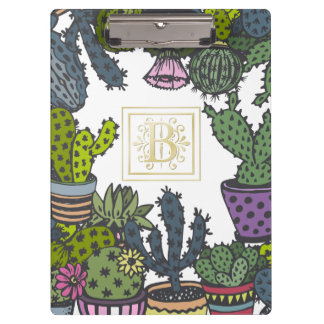 Monograma B del cactus Carpeta De Pinza