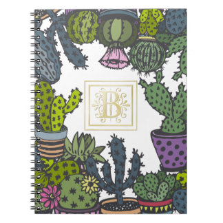 Monograma B del cactus Cuaderno