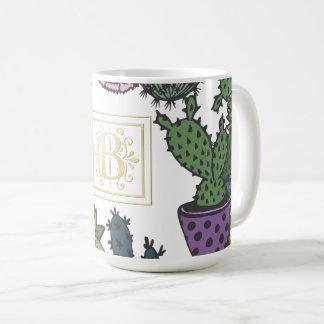 Monograma B del cactus Taza De Café