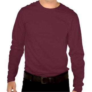 Monograma básico del negro 3d camisetas