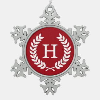 Monograma blanco de la inicial de la guirnalda del adornos