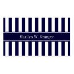 Monograma blanco del nombre de la cinta de azules  tarjetas de visita