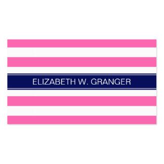 Monograma blanco del nombre de la marina de guerra tarjetas de visita