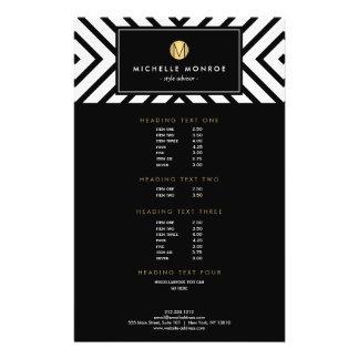 Monograma blanco y negro retro del oro del modelo folleto 14 x 21,6 cm