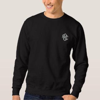 Monograma bordado negro básico de la camiseta