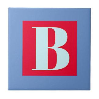 Monograma brillante y elegante del alfabeto azulejo de cerámica