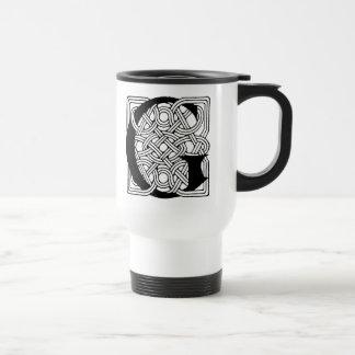 Monograma céltico del nudo del vintage de G de la Taza De Café